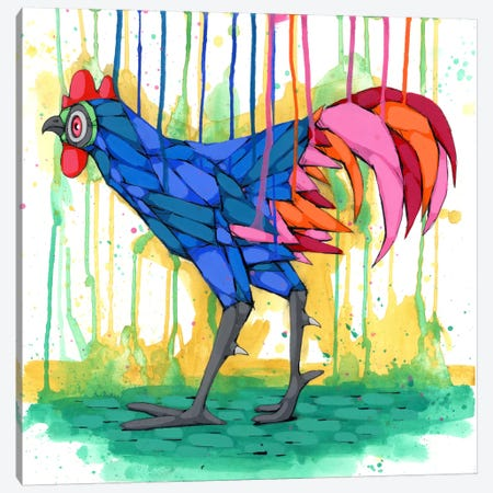 Cool Rooster 3-Piece Canvas #RIC77} by Ric Stultz Canvas Wall Art