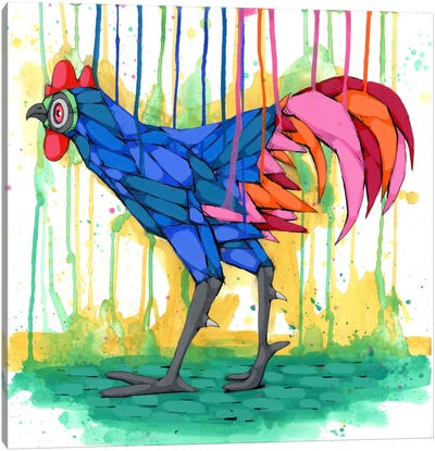Cool Rooster Canvas Art Print