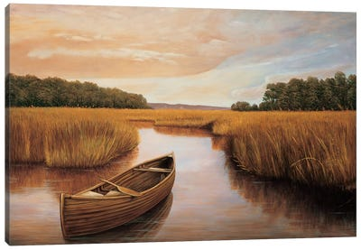 Reflections on the lake I Canvas Art Print