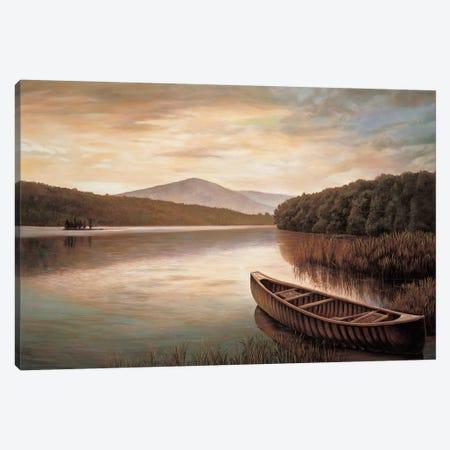 Reflections on the lake II Canvas Print #RID4} by Richard Dunahay Canvas Art Print