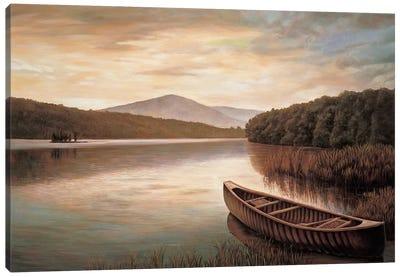Reflections on the lake II Canvas Art Print