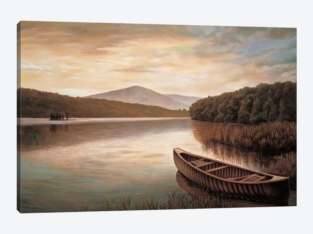 Reflections on the lake II by Richard Dunahay 1-piece Canvas Print