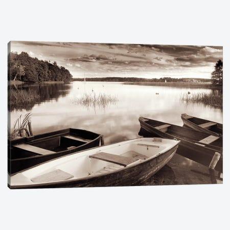 Lake W Boats 3-Piece Canvas #RII4} by Rig Studios Canvas Wall Art