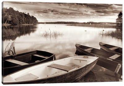 Lake W Boats Canvas Art Print