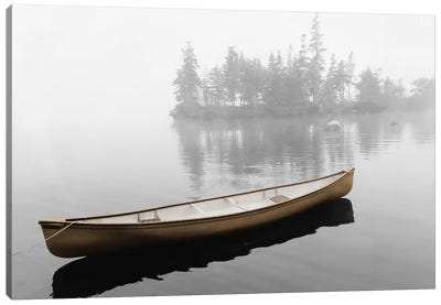 Lone Canoe Canvas Art Print
