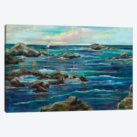 Asilomar Sails Canvas Print #RIM13} by Marie Massey Canvas Art Print