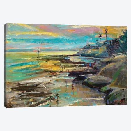 Surf's Up Canvas Print #RIM19} by Marie Massey Art Print