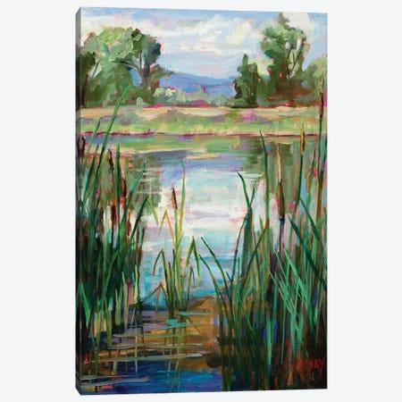 Cattail Pond Canvas Print #RIM24} by Marie Massey Art Print