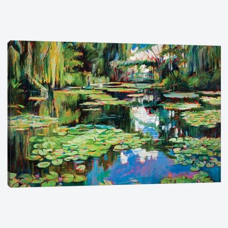 Homage To Monet Canvas Print #RIM30} by Marie Massey Art Print