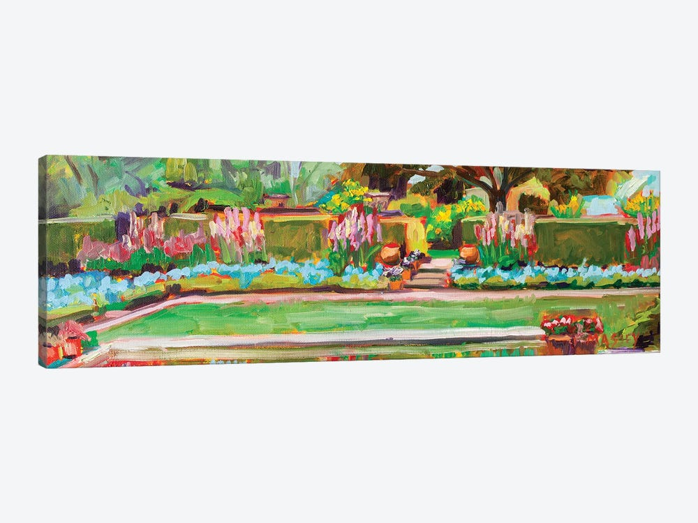 Gazing Pond, Plein Air by Marie Massey 1-piece Canvas Art