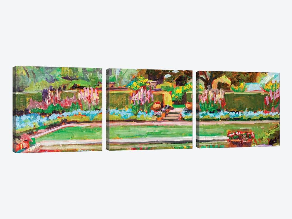 Gazing Pond, Plein Air by Marie Massey 3-piece Canvas Art