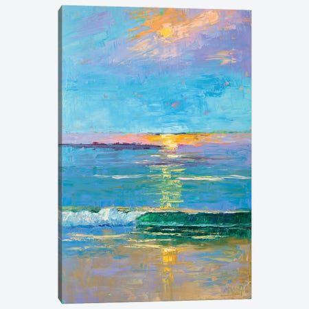 Carmel Beach Sunset Canvas Print #RIM39} by Marie Massey Canvas Art Print