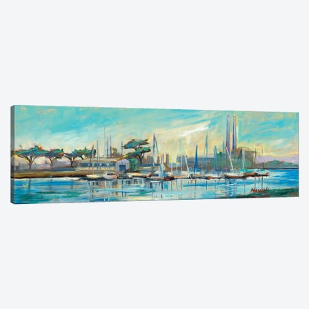 Moss Landing Harbor Canvas Print #RIM3} by Marie Massey Art Print