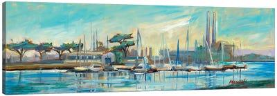Moss Landing Harbor Canvas Art Print