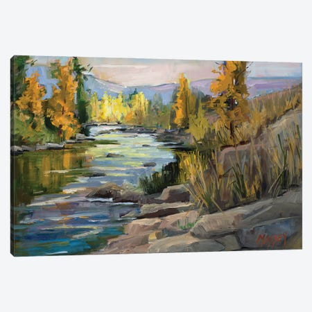 Autumn On The River Canvas Print #RIM43} by Marie Massey Canvas Art
