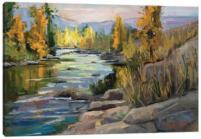 Autumn On The River Canvas Art Print
