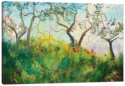 Spring'S Embrace Canvas Art Print