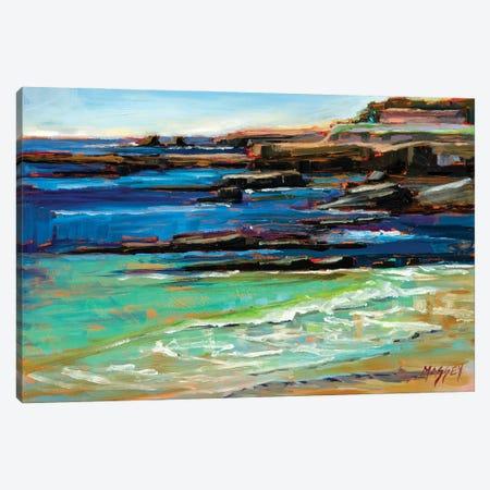 Gentle Tide At Pebble Beach Canvas Print #RIM64} by Marie Massey Art Print