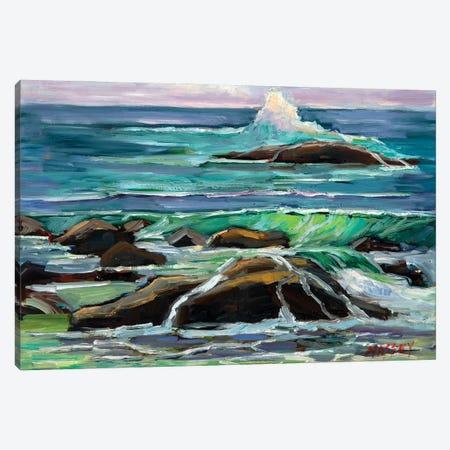 Pebble Beach Waves Canvas Print #RIM66} by Marie Massey Canvas Art Print