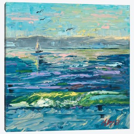 Sailing Cerulean Seas Canvas Print #RIM6} by Marie Massey Canvas Art