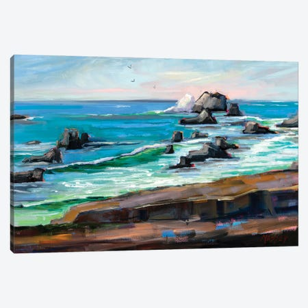 Wild Coast California Canvas Print #RIM72} by Marie Massey Canvas Print