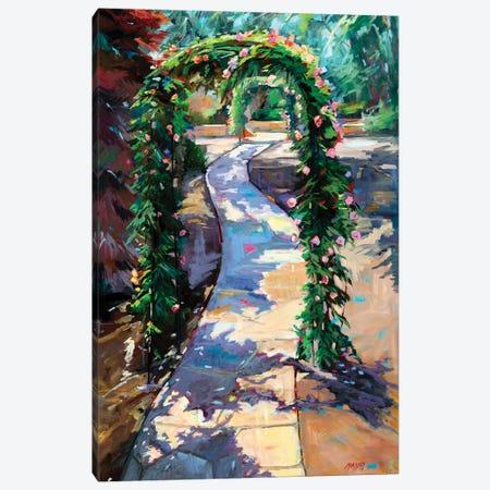 Rose Garden Pathway Canvas Print #RIM74} by Marie Massey Canvas Art