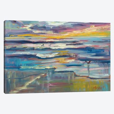 Twilight Waters Canvas Print #RIM8} by Marie Massey Canvas Art Print