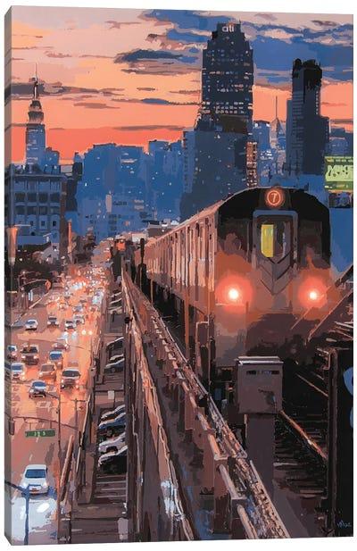 Nyc Sunset Canvas Art Print