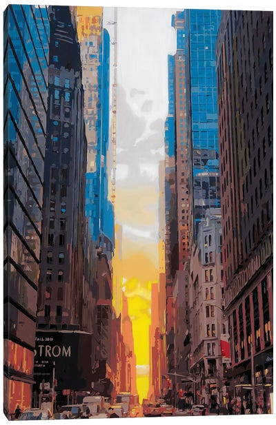 Manhattanhenge Canvas Art Print