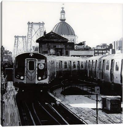New York Black And White Canvas Art Print