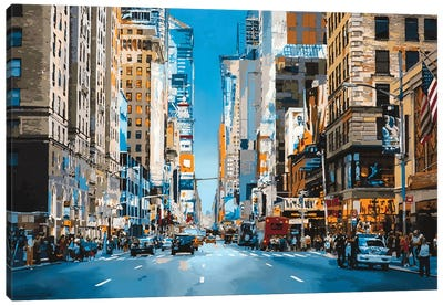 Broadway And 51st Canvas Art Print