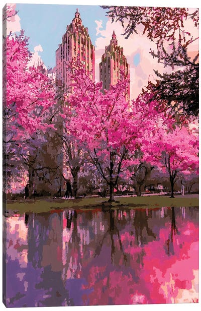 Blossoming Metropolis Canvas Art Print