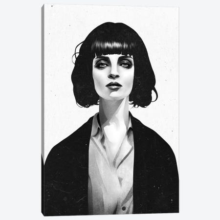 Mrs Mia Wallace Canvas Print #RIR25} by Ruben Ireland Canvas Artwork