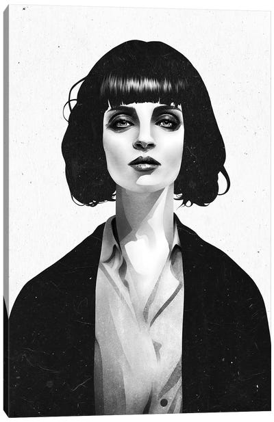 Mrs Mia Wallace Canvas Art Print