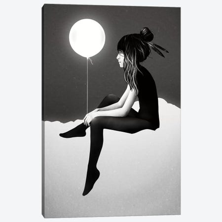 No Such Thing As Nothing By Night Canvas Print #RIR31} by Ruben Ireland Canvas Art