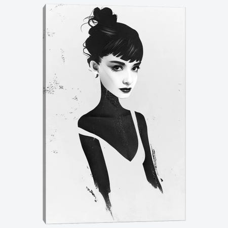 Oh, Audrey Canvas Print #RIR32} by Ruben Ireland Canvas Art