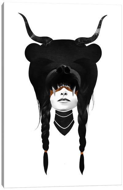 Bear Warrior Canvas Art Print