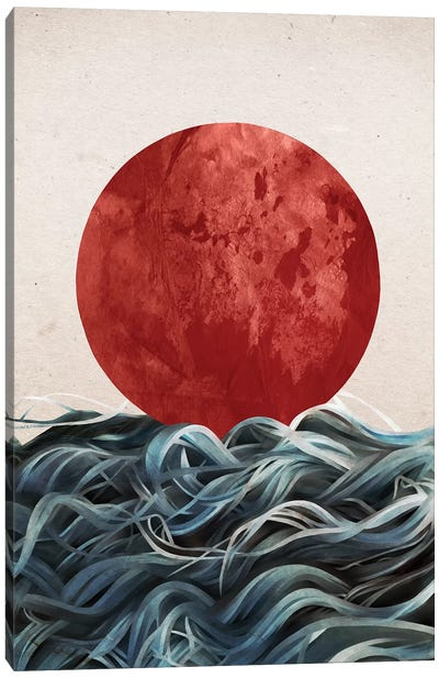 Sunrise In Japan Canvas Art Print