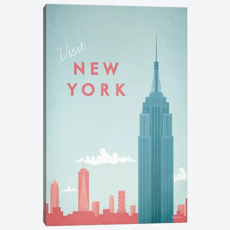 New York Canvas Print #RIV10} by Henry Rivers Canvas Artwork