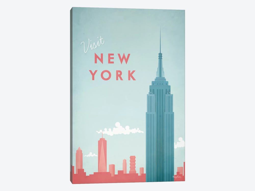 New York by Henry Rivers 1-piece Canvas Artwork