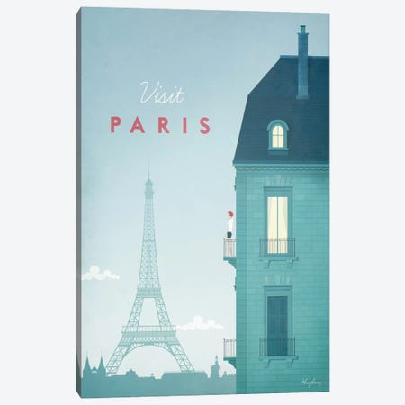Paris Canvas Print #RIV11} by Henry Rivers Canvas Wall Art