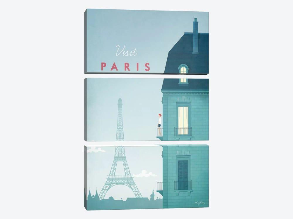 Paris by Henry Rivers 3-piece Canvas Print