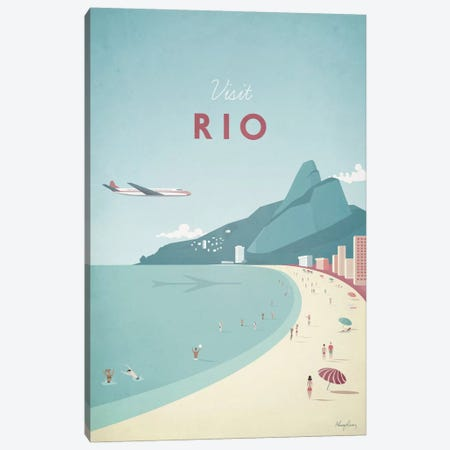 Rio Canvas Print #RIV12} by Henry Rivers Canvas Artwork