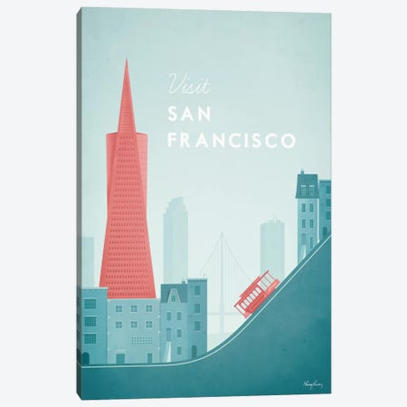 San Francisco Canvas Print #RIV13} by Henry Rivers Canvas Wall Art