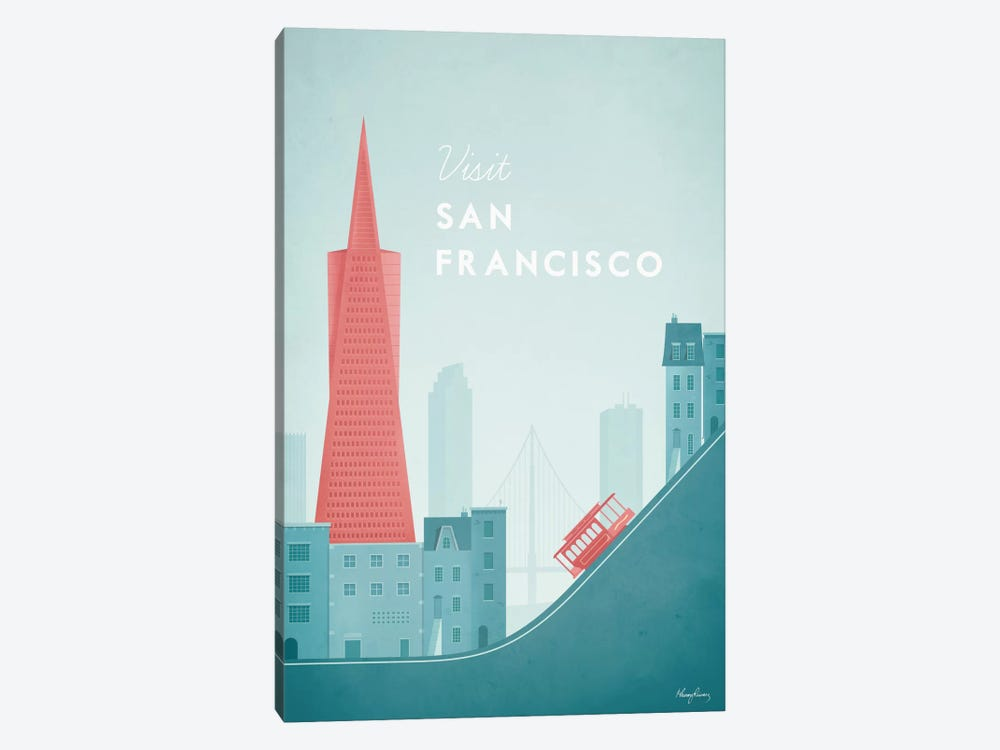 San Francisco by Henry Rivers 1-piece Canvas Art Print