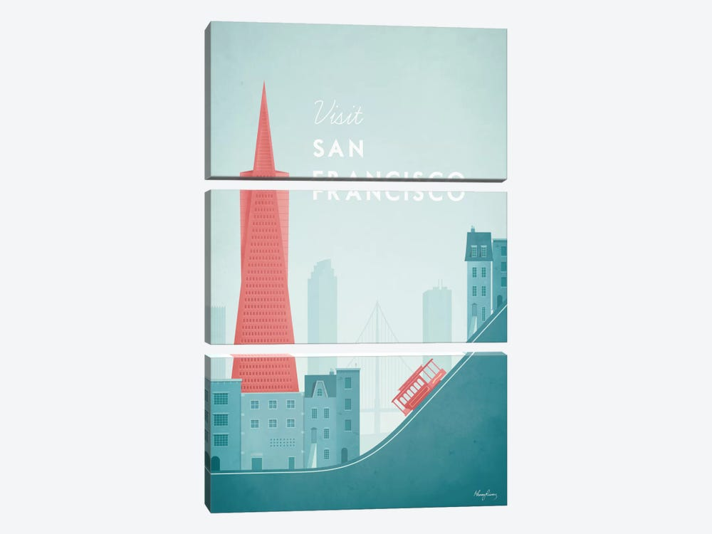 San Francisco by Henry Rivers 3-piece Canvas Print