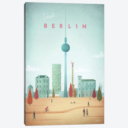 Berlin Canvas Print #RIV14} by Henry Rivers Canvas Art Print