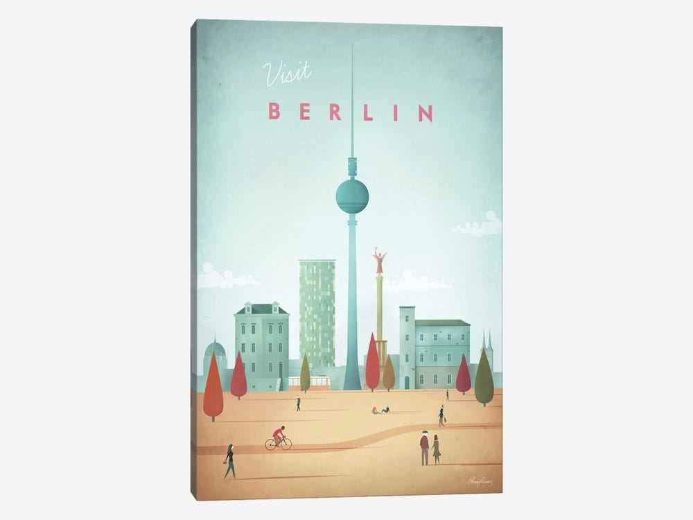 Berlin by Henry Rivers 1-piece Canvas Wall Art