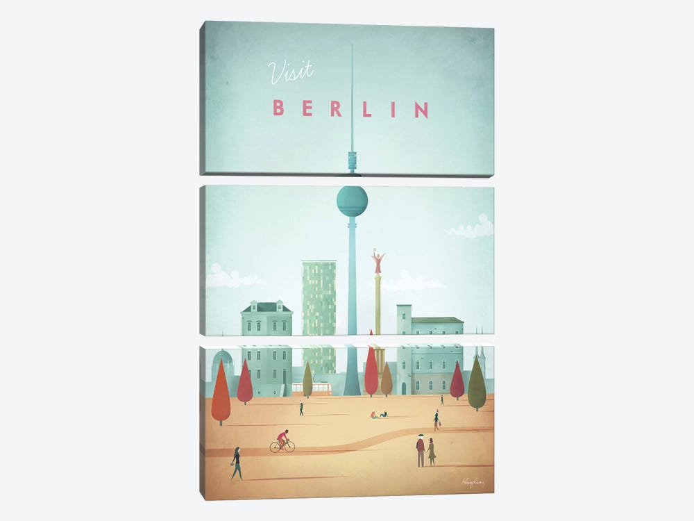 Berlin by Henry Rivers 3-piece Canvas Art