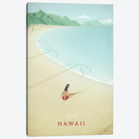 Hawaii Canvas Print #RIV15} by Henry Rivers Canvas Art Print